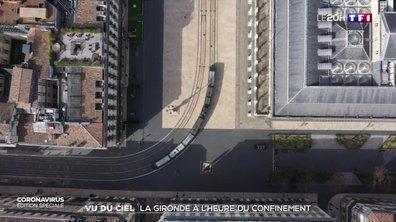 Confinement à Bordeaux : une ville quasi déserte vue du ciel