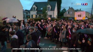 Conflans-Sainte-Honorine : forte émotion à la marche blanche en hommage à Samuel Paty