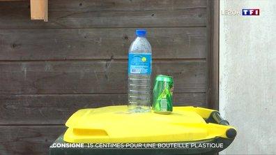 Consigne d'une bouteille en plastique : bientôt fixée à 15 centimes d'euro ?