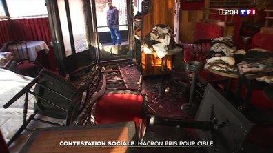 Contestation sociale : Emmanuel Macron pris pour cible