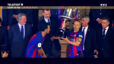 [Exclu Téléfoot 28/05] Dembélé flambe en finale de la Coupe d'Allemagne avec Dortmund, Messi offre la Coupe du Roi au Barça
