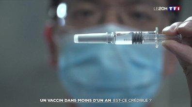 Coronavirus: est-ce crédible d'annoncer la découverte d'un vaccin dans moins d'un an ?