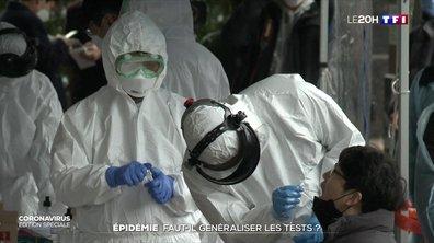 Coronavirus : faut-il généraliser les tests de dépistage ?