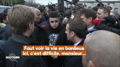 Dans les coulisses de la visite surprise d'Emmanuel Macron à Evry-Courcouronnes