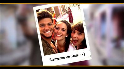 Rayane Bensetti et Lucie Lucas sous le charme de l'Inde