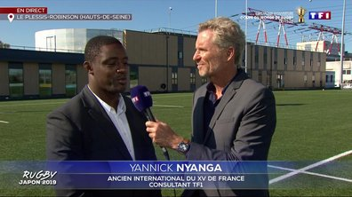 "Coupe du monde de rugby 2019 au Japon : ""On peut être optimiste"", Yannick Nyanga"