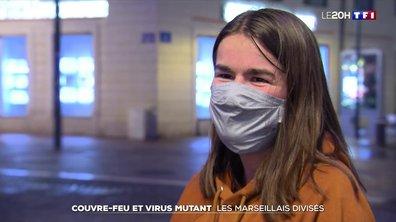 Couvre-feu et virus mutant : les Marseillais divisés