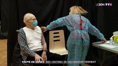 Covid-19 : faute de doses, des centres de vaccination contraints de fermer