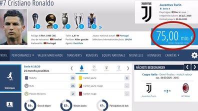 Mécontent de sa valeur marchande, Ronaldo bloque ce site