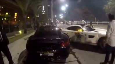 Il crashe sa Mercedes-AMG GT dans une Porsche et une Ferarri