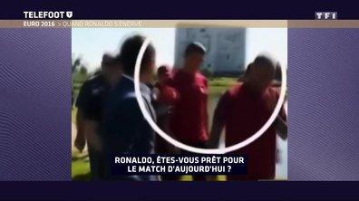 Cristiano Ronaldo s'énerve sur un journaliste !