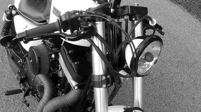 "La sublime Harley Davidson 883 ""Killer Café"" de Kustom Research"