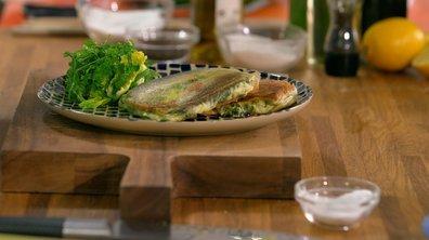 Croustillants de sardines à la feta et épinards