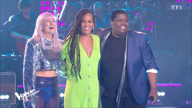"""The Voice 2021 – Cyprien, Niki Black et Amel Bent chantent """"The way you make me feel"""" de Michael Jackson (Demi-finale)"""
