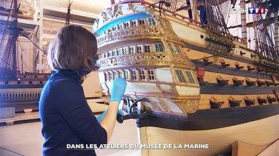 Dans les ateliers du musée national de la Marine à Paris