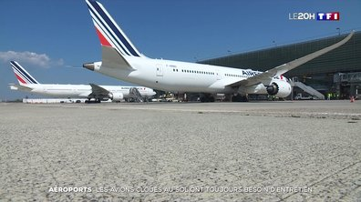 Dans les coulisses d'un tarmac devenu un immense parking pour avions depuis le confinement