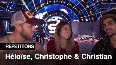 """Répétitions - """"C'est la team des Chrichri"""" Héloise Martin, Christophe Licata et Christian Millette"""