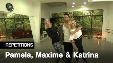 """Répétitions - """"Je ne vais pas avoir le pouvoir"""" Pamela Anderson et Maxime Dereymez aux côtés de Katrina Patchett"""