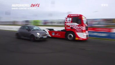 No Limit : Duel Camion contre Abarth 695 Biposto sur circuit