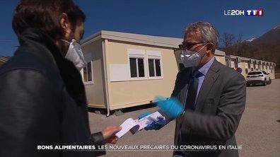 Des bons alimentaires distribués aux nouveaux précaires du coronavirus en Italie