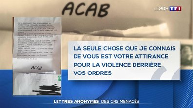 Des CRS menacés par des lettres anonymes