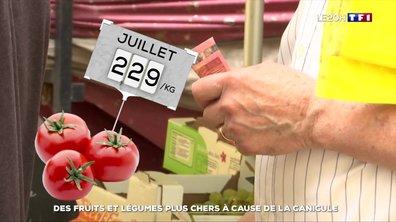 Des fruits et légumes plus chers à cause de la canicule