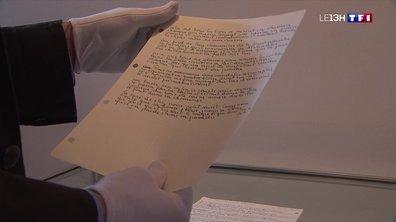 Des manuscrits de chansons de Georges Brassens vendus aux enchères à Paris