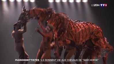 """Des marionnettistes donnent vie aux chevaux de """"War Horse"""""""