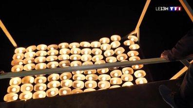 Des milliers de petites bougies à Lyon en hommage à la Vierge Marie
