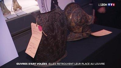Des œuvres d'art volées retrouvent leur place au musée du Louvre
