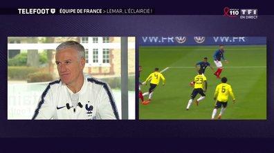 """[EXCLU Téléfoot 25/03] - Deschamps évoque la présence de Lemar au Mondial : """"Il fait tout pour y aller"""""""