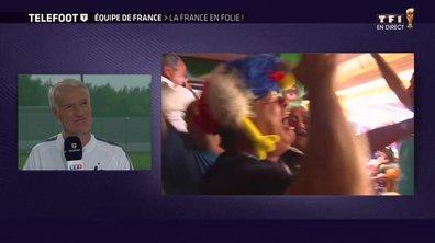 """[Exclu Téléfoot 01/07] - Deschamps sur la ferveur des supporters : """"Les gens aiment l'équipe de France"""""""