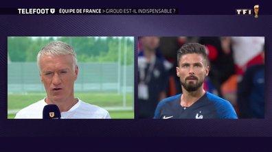 """[Exclu Téléfoot 24/06] - Deschamps : """"Les qualités de Giroud sont positives pour l'équipe"""""""