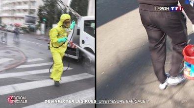 Désinfecter les rues : une mesure efficace contre le virus ?