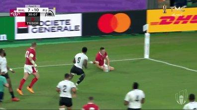 Pays de Galles - Fidji (14 - 10) : Voir l'essai d'Adams en vidéo