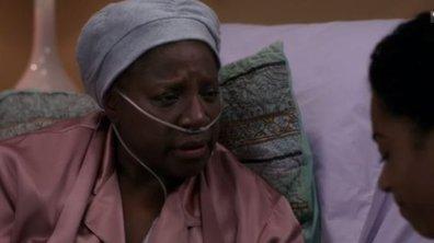 Maggie Pierce sous le choc après la mort de sa mère