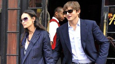 Ashton Kutcher et Demi Moore se retrouvent au restaurant par hasard