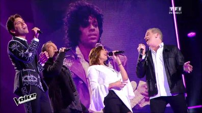 """En direct, les Coachs rendent hommage à Prince avec """"Kiss"""" (Saison 05)"""