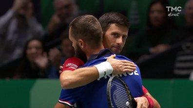 Coupe Davis : la balle de match de Djokovic contre Paire en vidéo