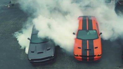 VIDEO : Trois Dodge Challenger Hellcat en pleine séance de drift!