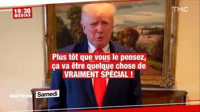 Donald Trump de retour dans l'indifférence des médias