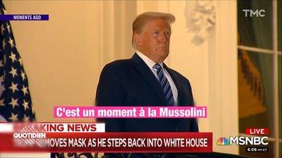 Donald Trump fête sa sortie de l'hôpital avec un clip de propagande tout en sobriété
