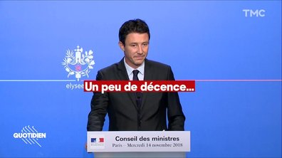 """Donald Trump vs Emmanuel Macron : le gouvernement réclame """"un peu de décence"""""""