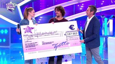 Julien reçoit un chèque de 187 963 euros