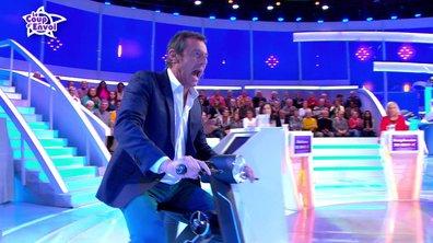 Jean-Luc fait du scooter électrique sur le plateau !