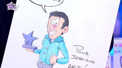 Jean-Luc reçoit son portrait en BD