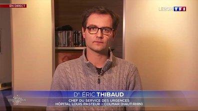 """Dr Éric Thibaud : """"Le nombre de cas grave qui se présente aux urgences est en train de diminuer"""""""