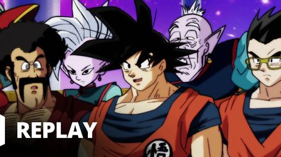 Dragon ball super - Episode 79 - Basil la jambe leste de l'univers 9 contre boo de l'univers 7 !