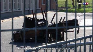 Ecole incendiée : un quartier de Lille sous le choc