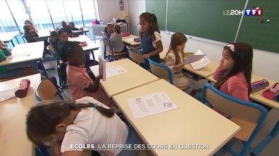 Écoles : la reprise des cours en question